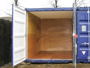 A lined 10ft Container
